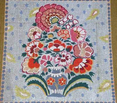 Kaffe Fassett Ehrman 1989 Printed Tapestry Needlepoint Canvas Paisley Cushion