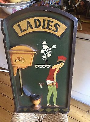 Saucy Fun Wooden Vintage Pub Sign Board For The Ladies. Three Dimensional