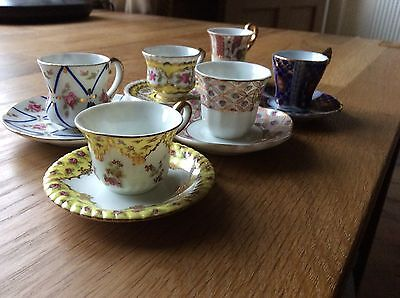 Set Of Six MAYFAIR MUSEUM OF MINIATURES - ORNATE CUP AND SAUCER SETS