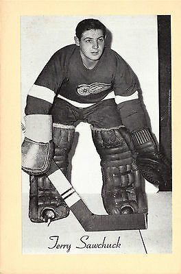 Terry Sawchuck Rare 1945-1964 Beehive Photo - Detroit Red Wings
