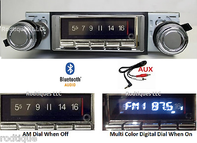 1965 Cutlass F85 Bluetooth Stereo radio Multi Color Display USA 740