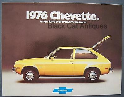 GM Chevy 1976 Chevette Sport Rally & Woody Coupe & Chevette Scooter Car Brochure
