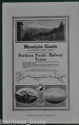 1914 NORTHERN PACIFIC Railway advertisement, Northwest USA mountains