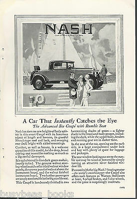 1927 NASH advertisement, Nash coupe with rumble seat