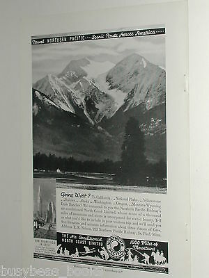 1939 Northern Pacific Railway ad, NP RR passenger train