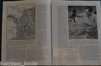 1948 magazine article about COLOMBIA, people, history, by biologist's wife