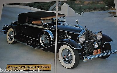 1984 magazine article about the 1930 Packard 745 Victoria, info, photos etc