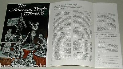 1974 Franklin Mint 4-page advertisement for AMERICAN PEOPLE pewter figures