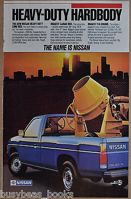 1986 NISSAN Pickup truck advertisement, Long Bed Pick-up truck