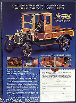 1996 Franklin Mint advertisement for the 1913 FORD MODEL T PICKUP model