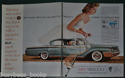 1960 MERCURY MONTCLAIR 2-page advertisement Montclair sedan Blonde on pogo-stick