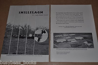 1961 FORD Aeronutronic SHILELAGH missile 2-page advertisement, U.S. ARMY