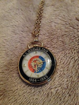 New York World's Fair (1964-65) Pocket Wind Up Watch; Mint(new)&Works