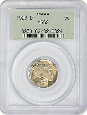 1926-D Buffalo Nickel MS63 PCGS