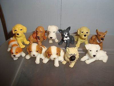 Miniature Dollhouse Dogs-Puppies..lot of 11..free shipping