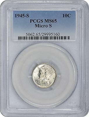 1945-S Mercury Dime MS65 PCGS 65 Mint State Micro S