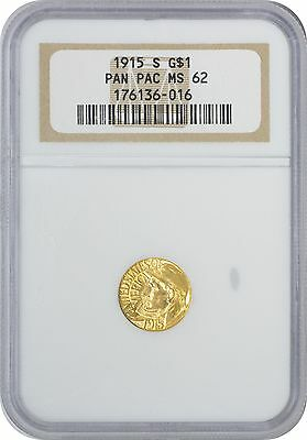 1915-S Panama-Pacific $1 Gold MS62 NGC