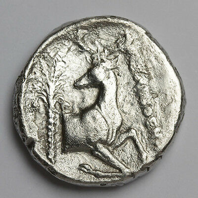 CM IONIA EPHESOS Silver Tetradrachm Bee Stag Palm Genuine Ancient Greek Coin