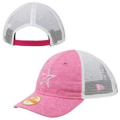 Dallas Cowboys Infant Girl Pink Trucker Cap Hat (FREE SHIPPING) 6 mo to 18 mo