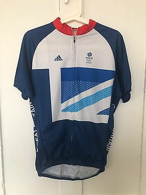 2012 Team GB London Olympic Cycling Jersey Short Sleeve L