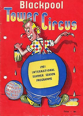 Blackpool Tower Circus 1951 Programme.