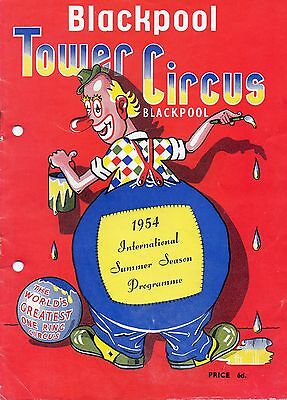 Blackpool Tower Circus 1954 Programme.