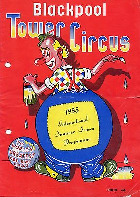 Blackpool Tower Circus 1955 Programme.