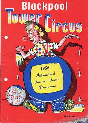 Blackpool Tower Circus 1956 Programme.