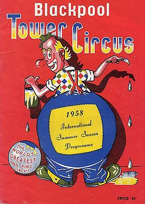 Blackpool Tower Circus 1958 Programme.
