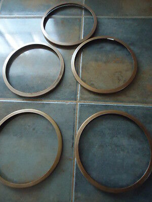 """5 vintage brass lamp rings  parts 5"""""""