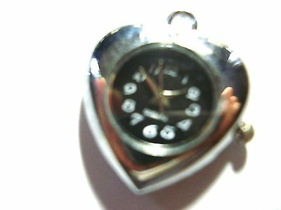 1 x  Silver Tone Quartz Watch Face For Necklace/fob  Beading lot 29