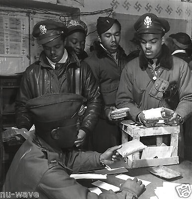 1945-Southern Italy-Black Fighter Pilots Being Distributed Escape Kits-Cyanide