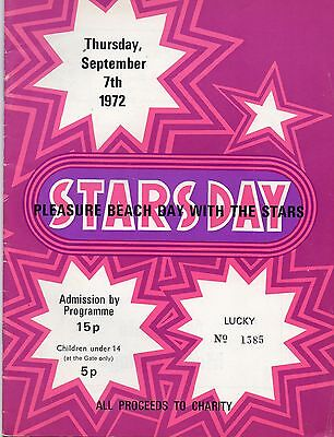 Great Yarmouth Pleasure Beach 1972 'day With The Stars' Programme