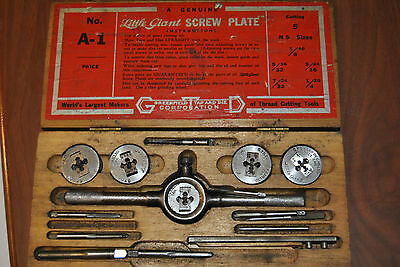Greenfield Little Giant Screw Plate A-1 Tap and Die Set - Vintage Tool Set