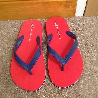 M& S Flip Flops New With Tags Uk6/7