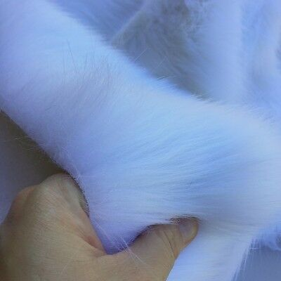 ' Quartz  ' - WHITE faux fur fabric - furaddiction