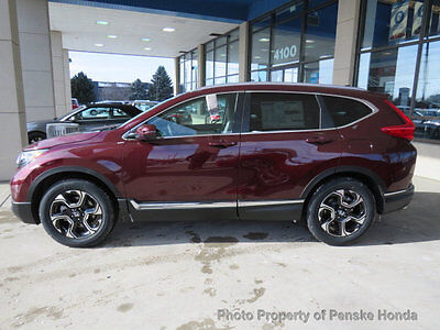 2017 Honda CR-V Touring AWD Touring AWD New 4 dr SUV CVT Gasoline 1.5L 4 Cyl Basque Red Pearl II