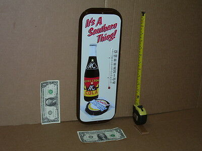 35c - RC Pyramid BOTTLE Royal Crown Cola Moon Pie Cookie GAS STATION Thermometer