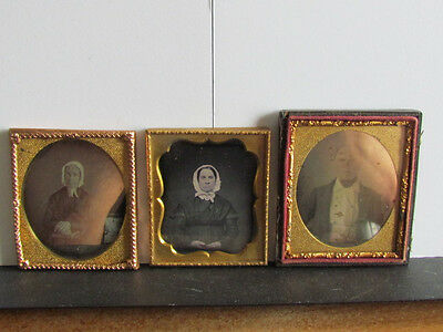 group of daguerreotype photographs
