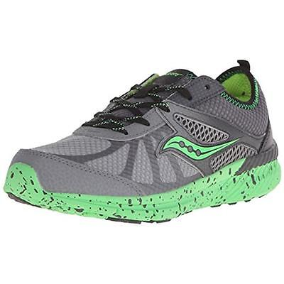 Saucony 5010 Boys Volt Gray Little Kid Running Shoes Sneakers 10.5 Wide (E) BHFO