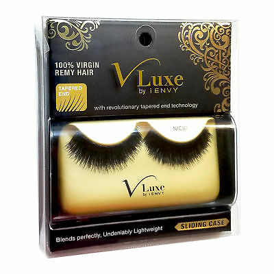 8b6b4a356f4 V-Luxe By Kiss I Envy 100% Virgin Remy Tapered End Strip Eyelashes Vle13