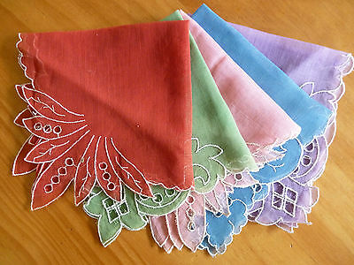 LOT of 12 Mostly VINTAGE Unique Ladies Hankies Handkerchiefs Some Embroidered