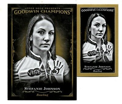 2016 Goodwin Champions 2 Black & White Cards #121 Stefanie Johnson(Base & Mini)
