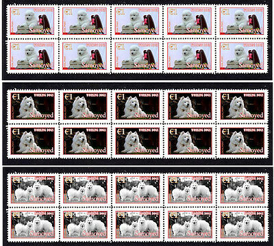 Samoyed 'working Dogs' Set Of 3 Mint Stamp Strips 2