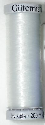 Gutermann Invisible Thread, 200m (220 yards) Colour 1001 CLEAR