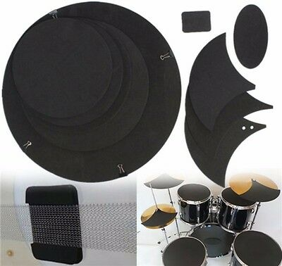 10Pcs of Sound off Mute Silencer Drumming Rubber Practice Pad Set