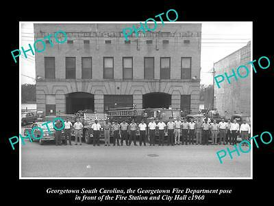 Old Large Historic Photo Of Georgetown South Carolina The Fire Department 1960 1