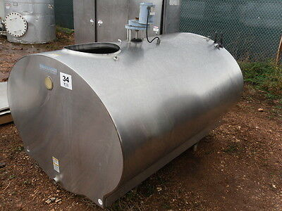 500 Gallon Mueller Refrigerated Milk Dairy Sap Stainless Steel Tank W Mixer