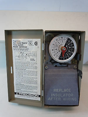 Precision Hot Water Heater 24Hr Time Switch Double Pole Single Throw 240 Volts