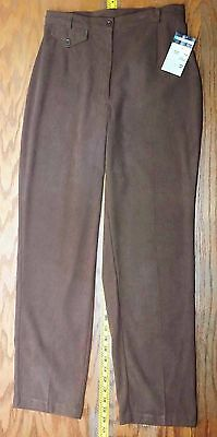 Womens Brown Dress Pants Requirements Stretch Size 10 X 30